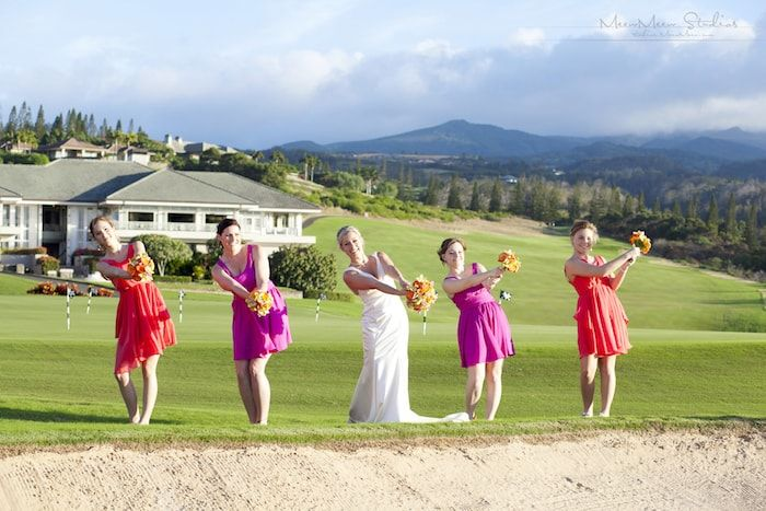 Bridal Party on Golf Course Thumbnail