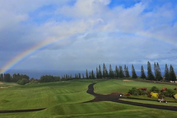 Rainbow over Golf Course Thumbnail